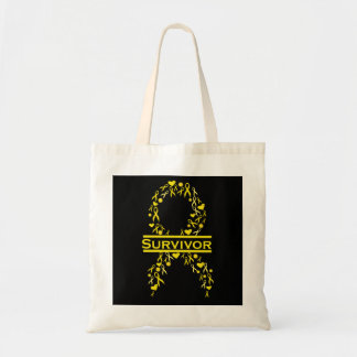小児科の蟹座の生存者の認識度のリボンのバッグ トートバッグ