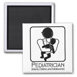 小児科医のロゴ-乳児、子供への医者 マグネット