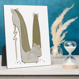 小剣を結婚するかわいらしい事は芸術に蹄鉄を打ちます フォトプラーク