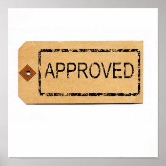 小包のラベルのプリントの公認のゴム印 ポスター