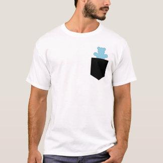小型くまの青いカワウソのチェーサーカブス Tシャツ