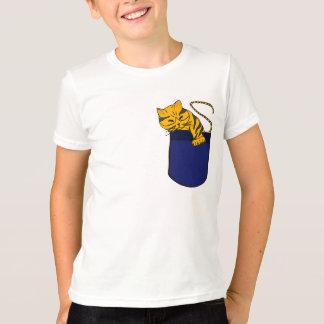 小型のワイシャツの眠い猫 Tシャツ