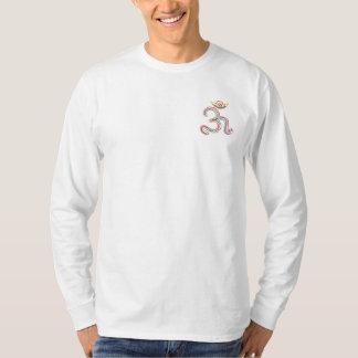 小型の基本的な長袖のOMの信念の記号 Tシャツ