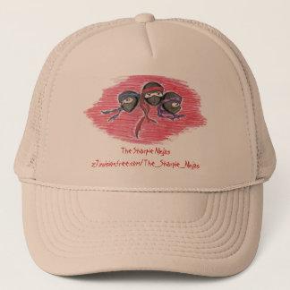小型の平底船の忍者のロゴの帽子 キャップ