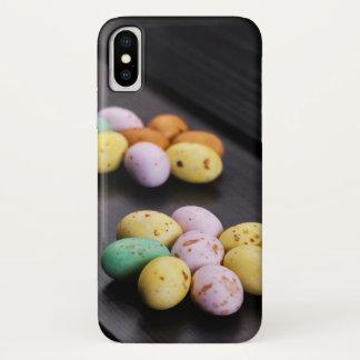 小型イースターエッグの花模様 iPhone X ケース