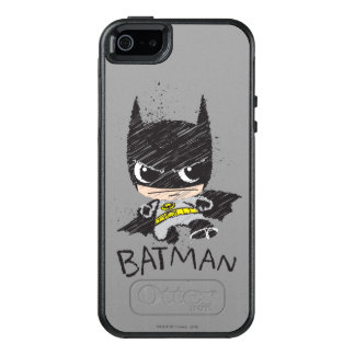 小型クラシックなバットマンのスケッチ オッターボックスiPhone SE/5/5s ケース