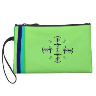 小型クラッチ・バッグの航海のな青緑 クラッチ