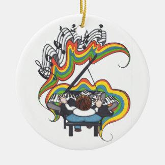 小型グランドピアノのオーナメント セラミックオーナメント