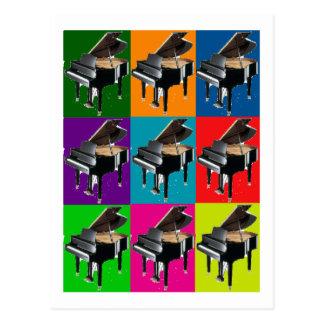 小型グランドピアノのポップアートのTシャツ及びギフト ポストカード