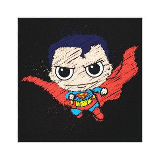 小型スーパーマンのスケッチ キャンバスプリント