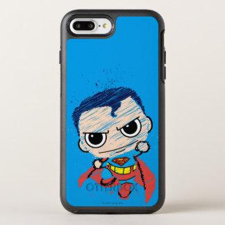 小型スーパーマンのスケッチ-飛びます オッターボックスシンメトリーiPhone 8 PLUS/7 PLUSケース