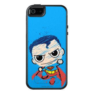 小型スーパーマンのスケッチ-飛びます オッターボックスiPhone SE/5/5s ケース