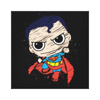 小型スーパーマンのスケッチ-飛びます キャンバスプリント