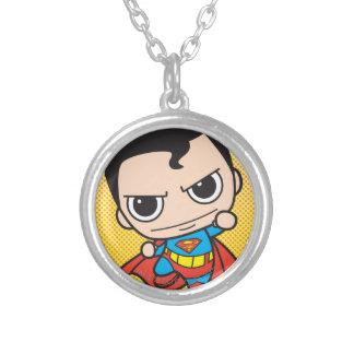 小型スーパーマンの飛行 シルバープレートネックレス