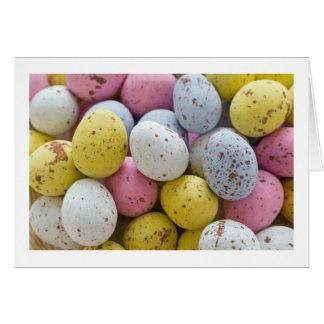 小型チョコレートの卵 カード