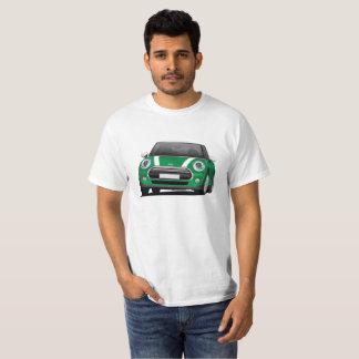 小型ハッチのたる製造人の絵、緑-白 Tシャツ