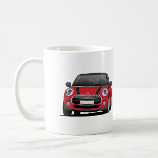 小型ハッチのたる製造人(F56)の二つのイメージのマグ、赤黒 コーヒーマグカップ