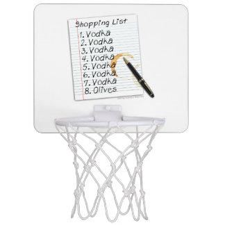 小型バスケットボールたがのウォッカのショッピング・リスト ミニバスケットボールネット
