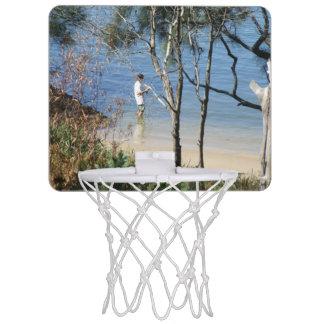 小型バスケットボールたがを採取するHarbourside ミニバスケットボールゴール