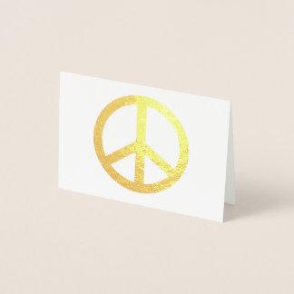 小型ホイルのメッセージカード 箔カード
