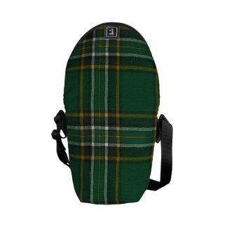 小型メッセンジャーバッグのアイルランドの国民のタータンチェックのプリント メッセンジャーバッグ
