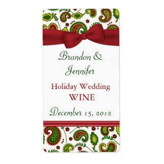 小型ワインのラベルを結婚するお祝いの休日 発送ラベル