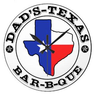 小型兄弟によるパパのテキサス州のバーベキュー ラージ壁時計