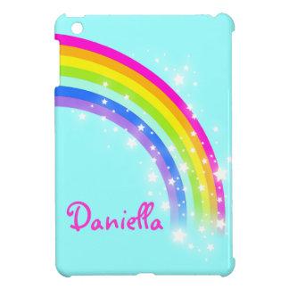 小型多彩な虹の水のipadと名前を挙げられる女の子をからかいます iPad miniケース
