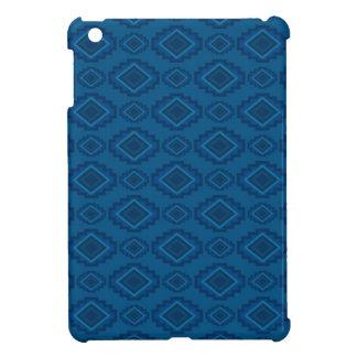 小型天然アメリカインディアンの青いタペストリーのipad iPad mini case