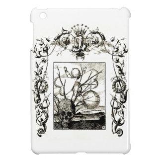 小型奇妙なゴシック様式芸術のキューピッドのスカルの死のipad iPad miniケース