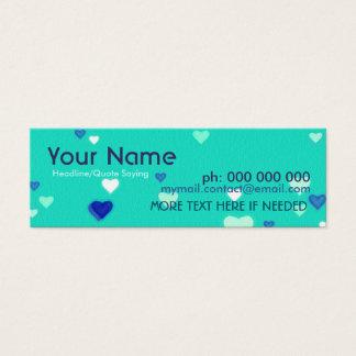 小型愛ハートの接触のプロフィールカード スキニー名刺