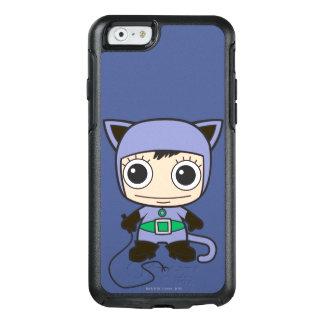 小型猫の女性 オッターボックスiPhone 6/6Sケース