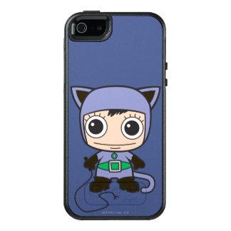 小型猫の女性 オッターボックスiPhone SE/5/5s ケース