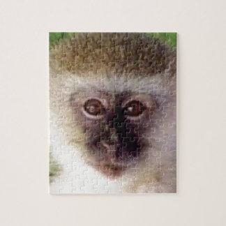 小型猿の頭部 ジグソーパズル