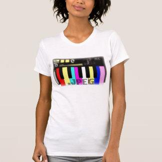 小型私SYNTH (白い) (女性の独占記事) Tシャツ