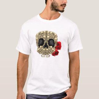 小型骨組砂糖のスカル Tシャツ