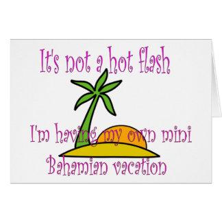 小型Bahamianの休暇 カード