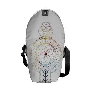 小型Bohoの神聖な幾何学によってインスパイアバッグ クーリエバッグ