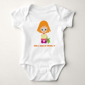小型Picasso_Gigi及びMimi乳児のTシャツ ベビーボディスーツ