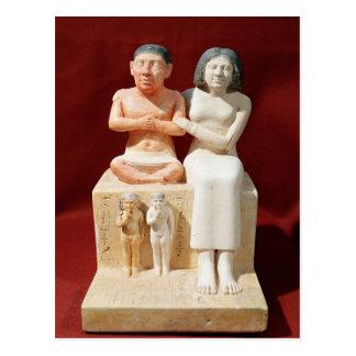 小型Senebおよび彼の家族の小像 ポストカード