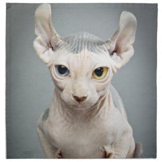小妖精や小人のスフィンクス猫の写真 ナプキンクロス