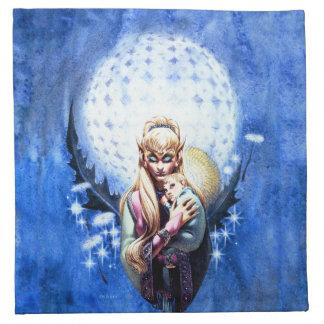 小妖精や小人のマドンナの夕食ナプキン ナプキンクロス