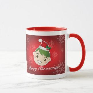 小妖精や小人のメリークリスマス マグカップ