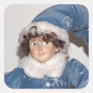 小妖精や小人の主Holiday Stickers スクエアシール
