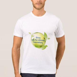 小妖精や小人の博物学者の緑の葉 Tシャツ
