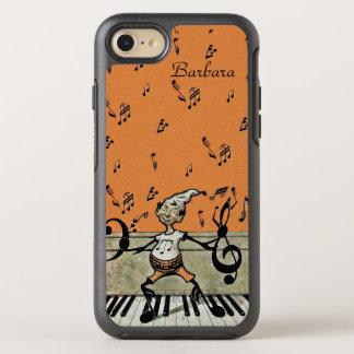 小妖精や小人音楽ノートはピアノに立つ足を武装させます オッターボックスシンメトリーiPhone 8/7 ケース