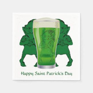 小妖精緑ビールSt patricks day Stのカクテル スタンダードカクテルナプキン