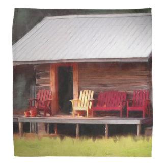 小屋のAdirondackの椅子 バンダナ