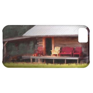 小屋のAdirondacksのiphone 5の場合 iPhone5Cケース