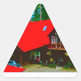 小屋2 三角形シール